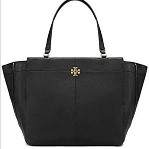 Tory Burch Ivy side zip tote Black